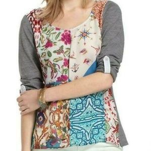 One September Anthropologie Milieu Patchwork Top